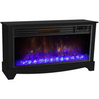 LifeSmart LifeZone Electric Infrared Quartz Low Profile Media Fireplace Heater, Black Vent Free