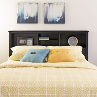 Prepac Brisbane Full-Queen Storage Headboard, Black