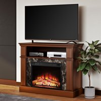 """Mainstays Loring Media Fireplace for TVs up to 50"""" Multiple Finishes Available"""