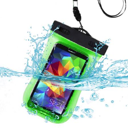 Premium Waterproof Sport Armband Case Bag for LG  E739 (myTouch), LS855 (Marquee), VS700 (Enlighten/ Gelato Q), P999 (G2X) (with Lanyard) (Green) + MYNETDEALS Mini Touch Screen Stylus