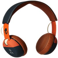 Skullcandy Grind On-Ear Headphones with Built-In Microphone Plush On-Ear Cushions Explore Orange / Navy