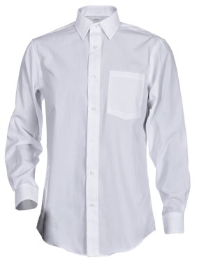 George Men's Long Sleeve Poplin Solid Button-Up Classic Fit & Slim Fit Dress Shirts