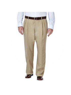 Men's Big & Tall Cool 18® Solid Pleat Front Pant Classic Fit 41714529486