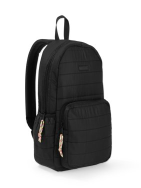 Black Quilted Dome Backpack