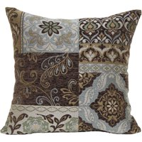 Better Homes and Gardens, Blue and Brown Floral Decorative Pillow