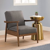 Better Homes & Gardens Flynn Mid-Century Chair Wood with Linen Upholstery