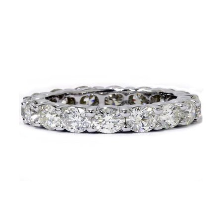 Unique Huge 5.00Ct Round Diamond Eternity Ring Wedding Band 14k White (Unique Diamond Wedding Band)