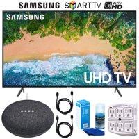 """Samsung UN75NU7100 (UN75NU7100FXZA) 75"""" NU7100 Smart 4K UHD TV (2018) Google Home Mini Bundle"""