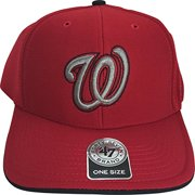 4eb9b518ae33e MLB Washington Nationals Photon 3-D W Logo MVP Adult Adjustable Cap Hat