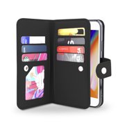 Gear Beast iPhone 8 / 7 Wallet Case, Flip Cover Dual Folio Case Slim Protective PU Leather Case 7 Slot Card Holder Including ID Holder Inner Pockets ...
