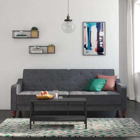 Novogratz Vintage Tufted Velvet Split Back Sofa Bed, Multiple (Best Ikea Sofa Bed)