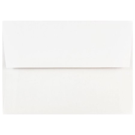 JAM Paper A7 Invitation Envelopes, 5 1/4 x 7 1/4, White, (Straw Envelope)