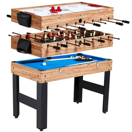- MD Sports 48 Inch 3-In-1 Combo Game Table, 3 Games with Billiards, Hockey and Foosball, accessories included
