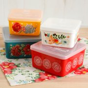 The Pioneer Woman Flea Market 4-Piece Square Food Container Set