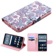 LG G Stylo Phone Case, LG G Stylo Case, by Insten European Flowers Folio