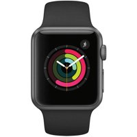 Refurbished Apple Watch - Series 1 - 42mm - Space Gray Aluminum Case - Black Sport Band