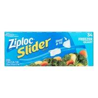 Ziploc Slider Freezer Bags, Quart, 34 Ct