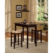 Linon Tavern Collection 3 Piece Counter Height Set With Rush Stools