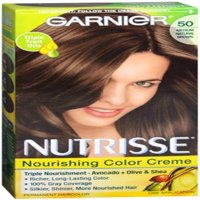 6 Pack - Garnier Nutrisse Nourishing Hair Color Creme, 50 Medium Natural Brown 1 ea