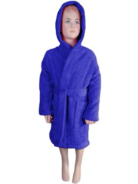 Product Image Kids Bathrobe Robe Unisex for Girls Boys Hooded by Puffy  Cotton - Navy Blue 94efeab81