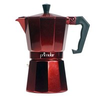 Primula Espresso Maker for Stove Top, 6 Cup (Makes 6 Traditional Demitasse Cups), Red