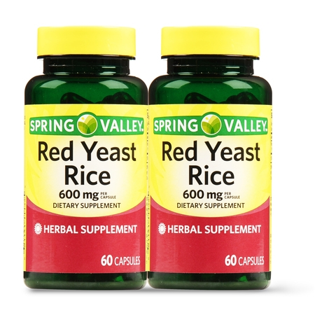 Spring Valley Red Yeast Rice Capsules, 600 mg, 60 Ct, 2 (Doctors Best Red Yeast Rice)