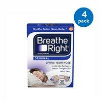 (4 Pack) Nasal Strips Breathe Right® 30 per Box Strip