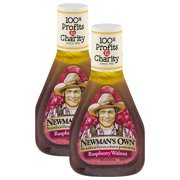 (2 Pack) Newman's Own Raspberry & Walnut Vinaigrette Dressing, 16 oz