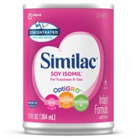 (2 Pack) Similac Soy Isomil Infant Formula with Iron, Concentrated Liquid, 13 fl oz