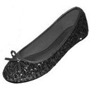5057df8b1d59 New Womens Sequins Ballerina Ballet Flats Shoes 4 Colors Available (5/6,  Black