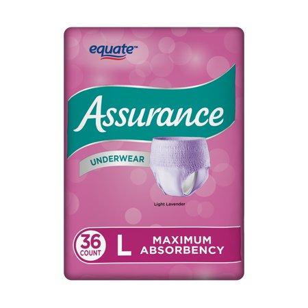 Women's Maximum Assurance Fresh Lavender Color Underwear, L, 36 Ct