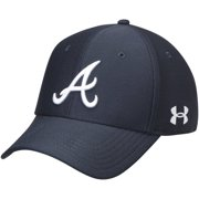 34502ba2b58 Atlanta Braves Under Armour Blitzing Performance Adjustable Hat - Navy -  OSFA