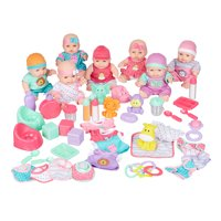 Kid Connection 48-Piece Deluxe Baby Doll Play Set, White