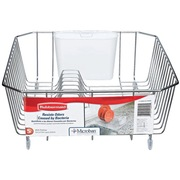 Rubbermaid Antimicrobial-Treated Dish Drainer, Small, Chrome