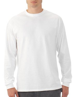 a5f4cd1711 Product Image Fruit of the Loom Men s Platinum EverSoft Long Sleeve T-Shirt