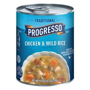 (8 Pack) Progresso Traditional Chicken and Wild Rice Soup, 19 oz