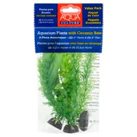 Aqua Culture Aquarium Plant Decoration, 3-Pack