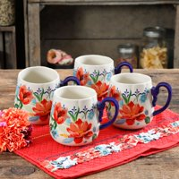 The Pioneer Woman Spring Bouquet 19oz Cups, Set of 4