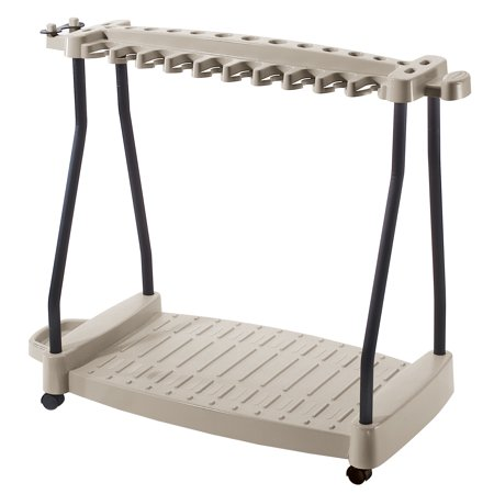 - Suncast Tool Rack with Wheels, RTC1000