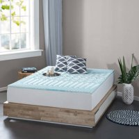 "Spa Sensations by Zinus Zoned Fusion Gel Memory Foam 2"" Mattress Topper, Available in multiple sizes"