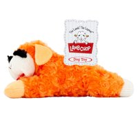 Multipet Plush Lamb Chop Dog Toy with Squeaker