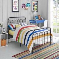 Novogratz Bright Pop Full Metal Bed and Mattress, Multiple Colors