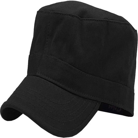 Cadet Army Military Fitted Botton Cap Basic Everyday Castro Radar Hat