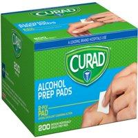 Curad Alcohol Swabs, 1 x 1, 200/Box