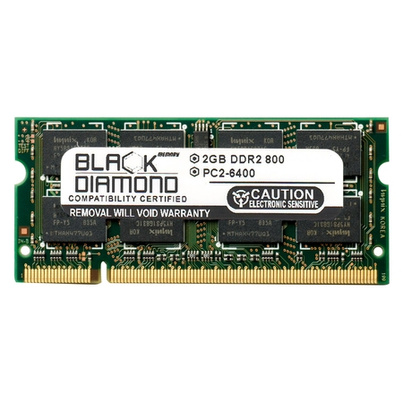 Dell Xps M1330 Motherboard (2GB Memory RAM for Dell XPS Laptop m1330, M1530 200pin PC2-6400 800MHz DDR2 SO-DIMM Black Diamond Memory Module Upgrade)