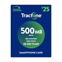 TracFone $25 Smartphone 500 MB Plan (Email Delivery)