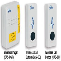 Secure Caregiver Pager w/ Two (2) Wireless Nurse Call Alert Buttons - Batteries Included - One Year Warranty