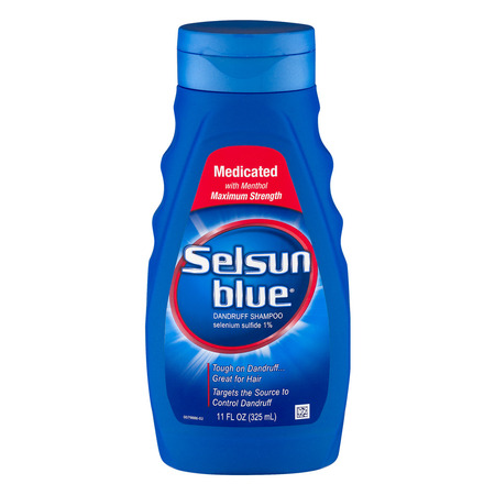 Selsun Blue Medicated Anti-Dandruff Shampoo, 11 (Best Shampoo For Synthetic Wigs)