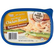 Great Value Thin Sliced Rotisserie Chicken Breast, 16 Oz.