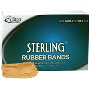 "Alliance Sterling Rubber Bands, #64 (3 1/2"" x 1/4"" Natural Crepe, 1lb Box"